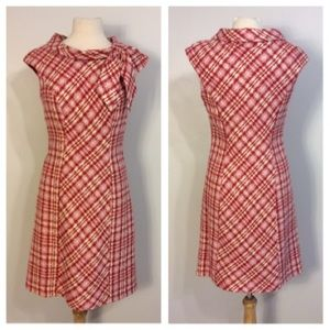 Ann Taylor Pink Red Tweed Dress Size 6